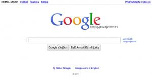 leet 版 google